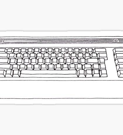 Commodore 64 C64 Design Reel to Real White Series Sticker
