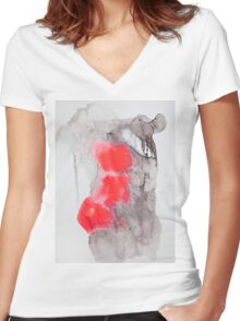 SP No.25 Women's Fitted V-Neck T-Shirt