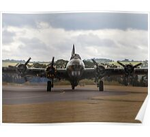 WW2 B-17 Sally B at Duxford Poster