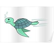 Turtle on a mission Poster