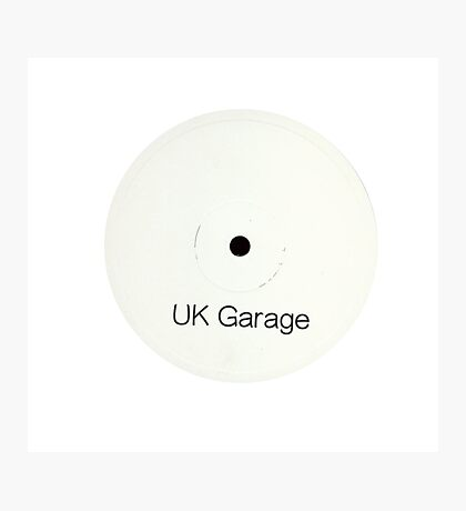 UK Garage White label Photographic Print