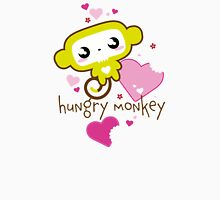 Hungry Monkey pink Women's Fitted V-Neck T-Shirt