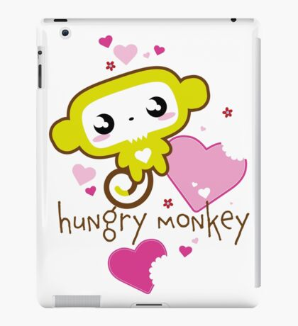 Hungry Monkey pink iPad Case/Skin