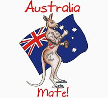 Australia Day Tattoo Kangaroo with Flag Design ! Unisex T-Shirt