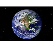 Full Earth showing North America Photographic Print