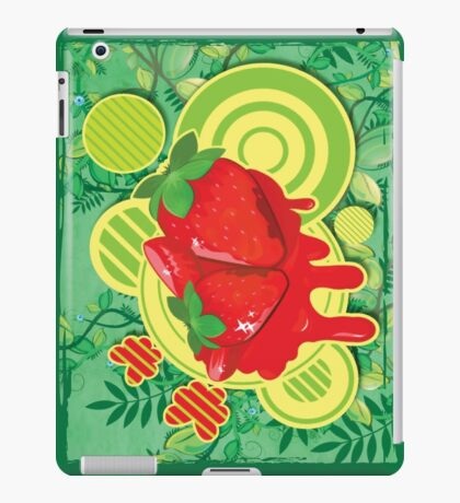 Cool Strawberry Graffiti Street Art iPad Case/Skin