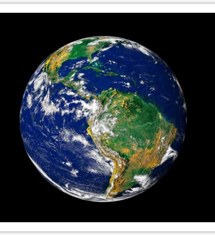 Full Earth showing South America. Sticker