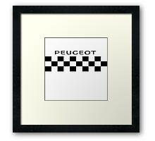 Peugeot Retro Cycling Kit Framed Print