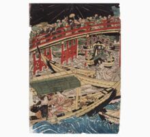 Boating On The Sumida River - Toyokuni Utagawa - c1800 - woodcut Baby Tee