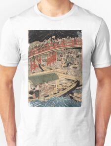 Boating On The Sumida River - Toyokuni Utagawa - c1800 - woodcut Unisex T-Shirt