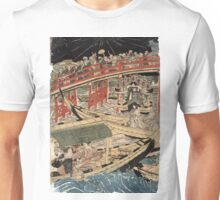 Boating On The Sumida River - Toyokuni Utagawa - c1800 - woodcut Unisex T-Shirt
