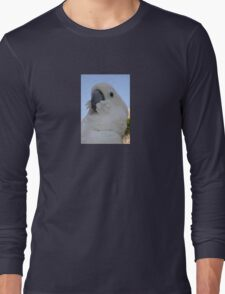 Ruffled Feathers Of A Blue Eyed Cockatoo Long Sleeve T-Shirt