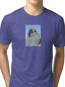 Ruffled Feathers Of A Blue Eyed Cockatoo Tri-blend T-Shirt