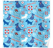 Funny Scottish Terrier Dogs Poster
