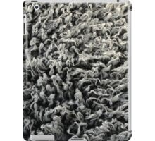 Shaggy Grey Animal Fur Texture Background iPad Case/Skin