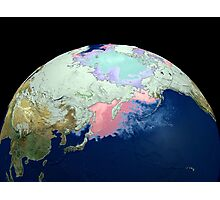Planet Earth showing snow, sea, ice. Photographic Print