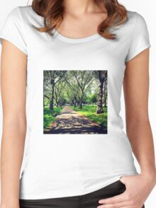 London Summer Park Path Women's Fitted Scoop T-Shirt