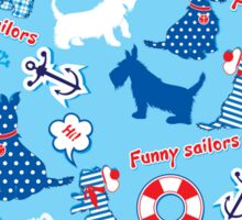 Funny Scottish Terrier Dogs Sticker