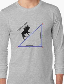 Hypotemoose, Math Humor. Long Sleeve T-Shirt