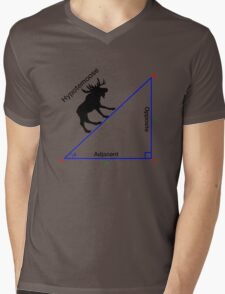 Hypotemoose, Math Humor. Mens V-Neck T-Shirt