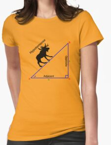 Hypotemoose, Math Humor. Womens Fitted T-Shirt