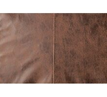 Antique Brown Vintage Leather Effect Pattern Photographic Print