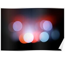 Circle Colour Lights Concert Blur Pattern Poster