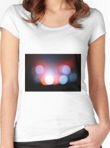 Circle Colour Lights Concert Blur Pattern Women's Fitted Scoop T-Shirt
