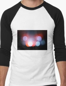 Circle Colour Lights Concert Blur Pattern Men's Baseball ¾ T-Shirt