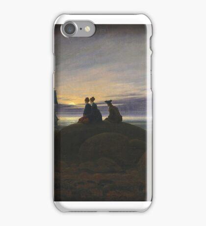 CASPAR DAVID FRIEDRICH, MOONRISE OVER THE SEA iPhone Case/Skin