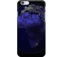 Full Earth at night showing Africa and Europe. iPhone Case/Skin