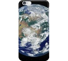 Fully lit Earth centered on Asia. iPhone Case/Skin