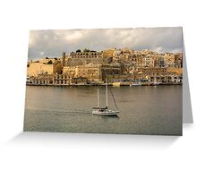 View of Southern Harbour District,Valleta,Malta Greeting Card