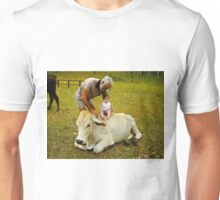 In my brothers front yard Unisex T-Shirt