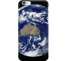 Fully lit Earth centered on Australia and Oceania. iPhone Case/Skin