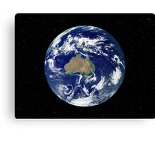 Fully lit Earth centered on Australia and Oceania. Canvas Print