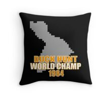 Duck Hunt Gaming Quote Throw Pillow