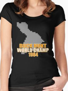 Duck Hunt Gaming Quote Women's Fitted Scoop T-Shirt