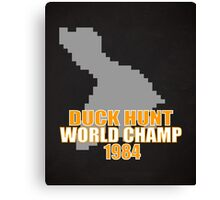 Duck Hunt Gaming Quote Canvas Print