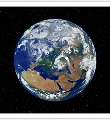 Fully lit Earth centered on Europe. Sticker