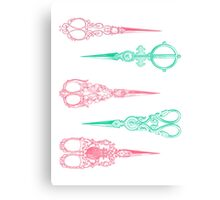 vintage scissors Canvas Print