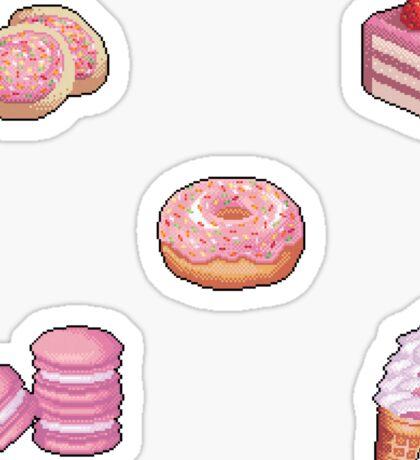 Pixel Pink desserts sticker set Sticker