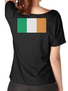IRISH FLAG, FLAG OF IRELAND, EIRE, PURE & SIMPLE, on BLACK Women's Relaxed Fit T-Shirt