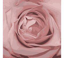 pink rose grunge stile Photographic Print