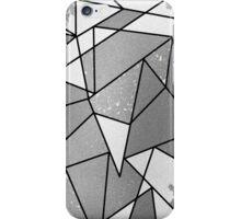 Cool Modern Black & Gray Distressed Geometric Pattern iPhone Case/Skin
