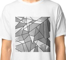Cool Modern Black & Gray Distressed Geometric Pattern Classic T-Shirt
