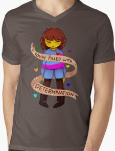 Determination Mens V-Neck T-Shirt