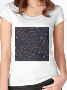 Which Way Is Up Abstract Pattern Women's Fitted Scoop T-Shirt