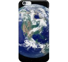 Fully lit Earth centered on North America. iPhone Case/Skin