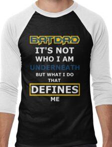 Batdad - What Defines Me Men's Baseball ¾ T-Shirt